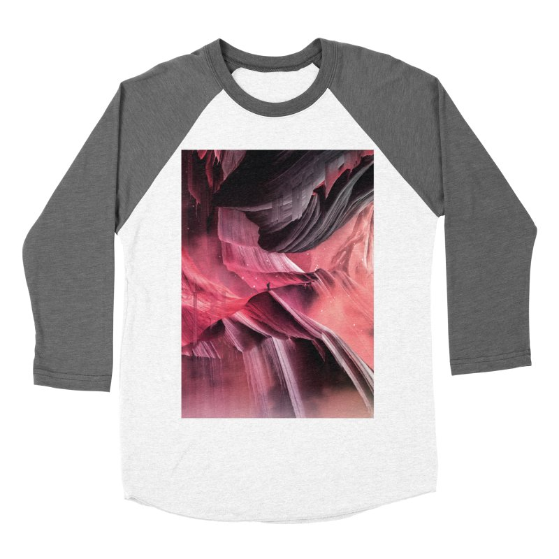 Return to a place never seen / Red Women's Baseball Triblend Longsleeve T-Shirt by Adam Priesters Shop