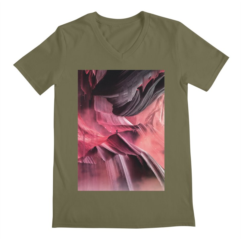 Return to a place never seen / Red Men's Regular V-Neck by Adam Priesters Shop
