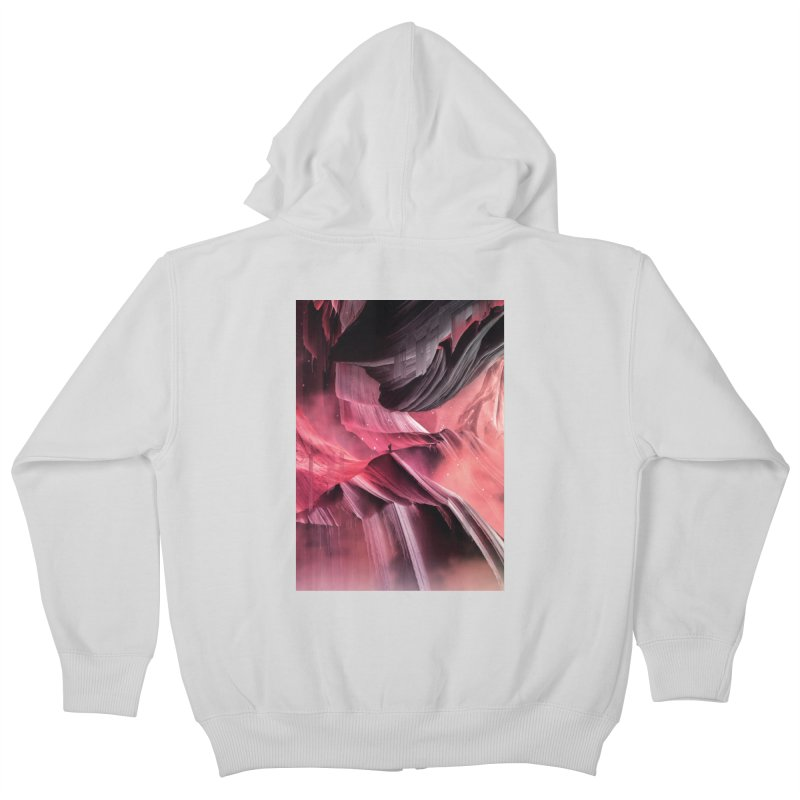 Return to a place never seen / Red Kids Zip-Up Hoody by Adam Priesters Shop
