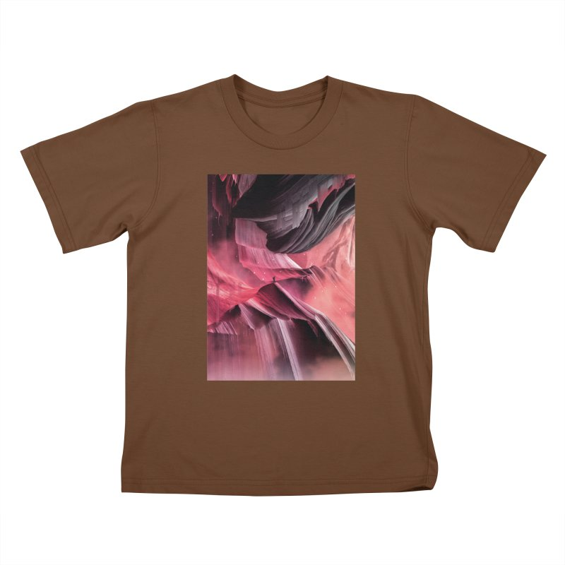 Return to a place never seen / Red Kids T-Shirt by Adam Priesters Shop