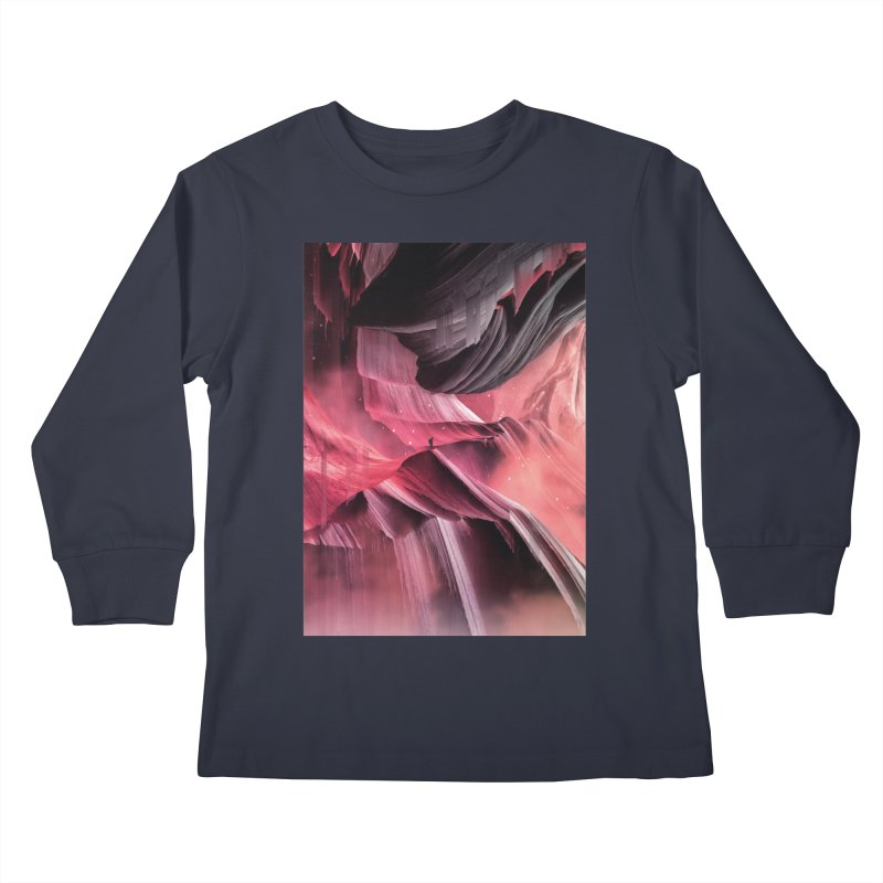 Return to a place never seen / Red Kids Longsleeve T-Shirt by Adam Priesters Shop