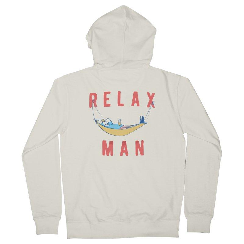 Relax Man Men's Zip-Up Hoody by adamrajcevich's Artist Shop