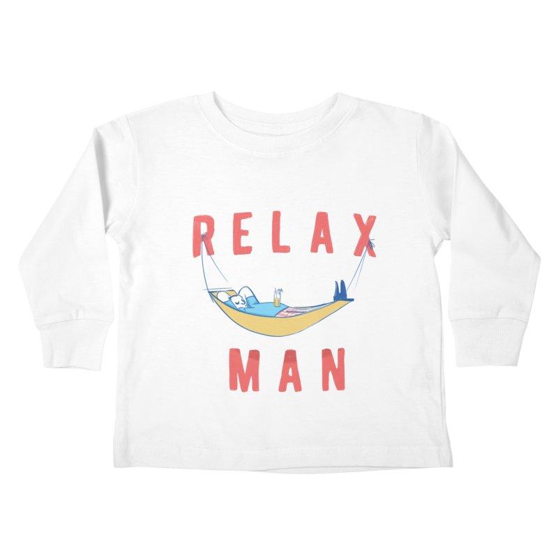 Relax Man Kids Toddler Longsleeve T-Shirt by adamrajcevich's Artist Shop