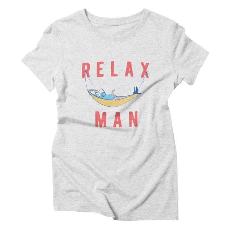 Relax Man Women's Triblend T-shirt by adamrajcevich's Artist Shop