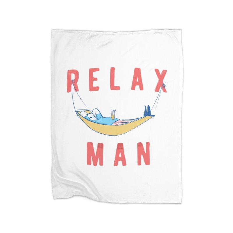 Relax Man Home Fleece Blanket Blanket by adamrajcevich's Artist Shop