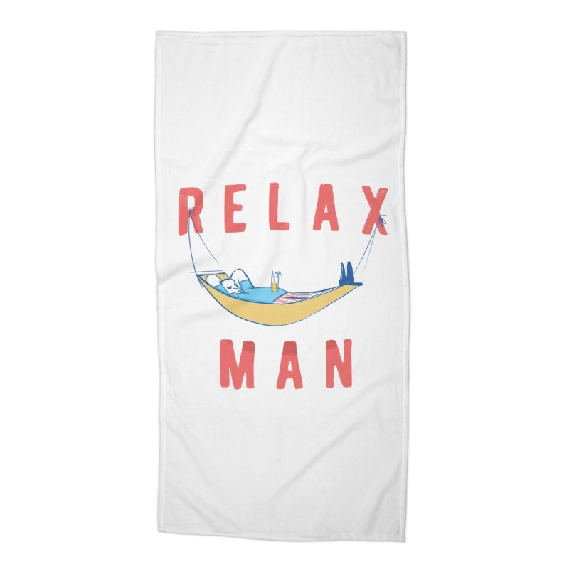 Relax Man Accessories Beach Towel by adamrajcevich's Artist Shop