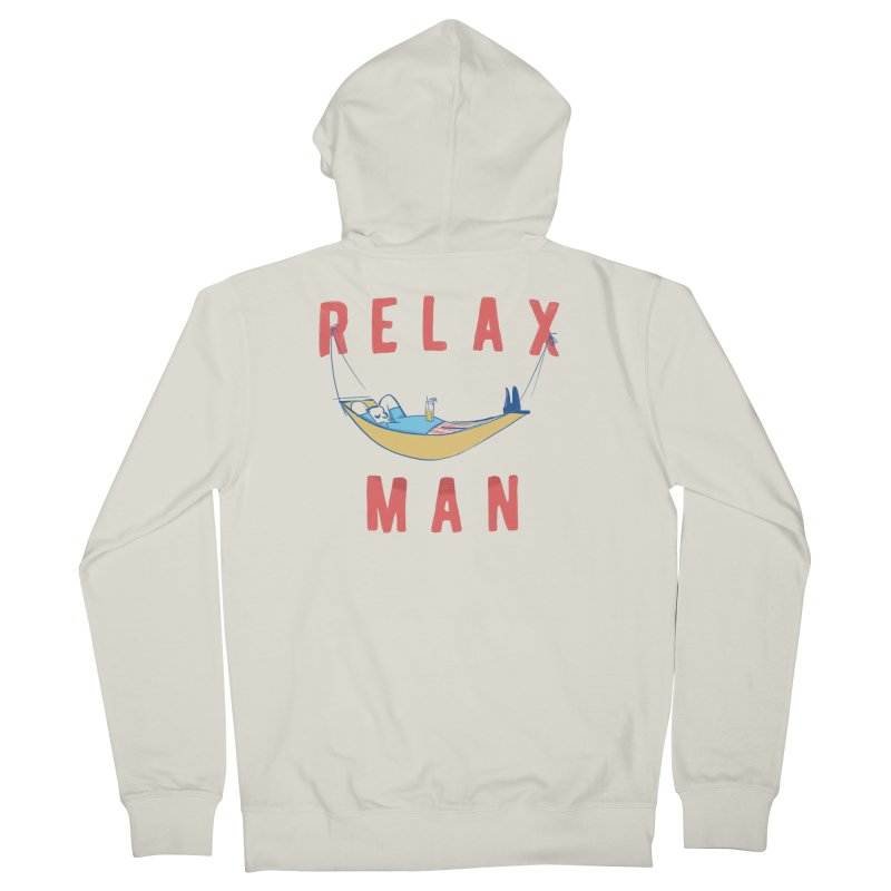 Relax Man Women's French Terry Zip-Up Hoody by adamrajcevich's Artist Shop