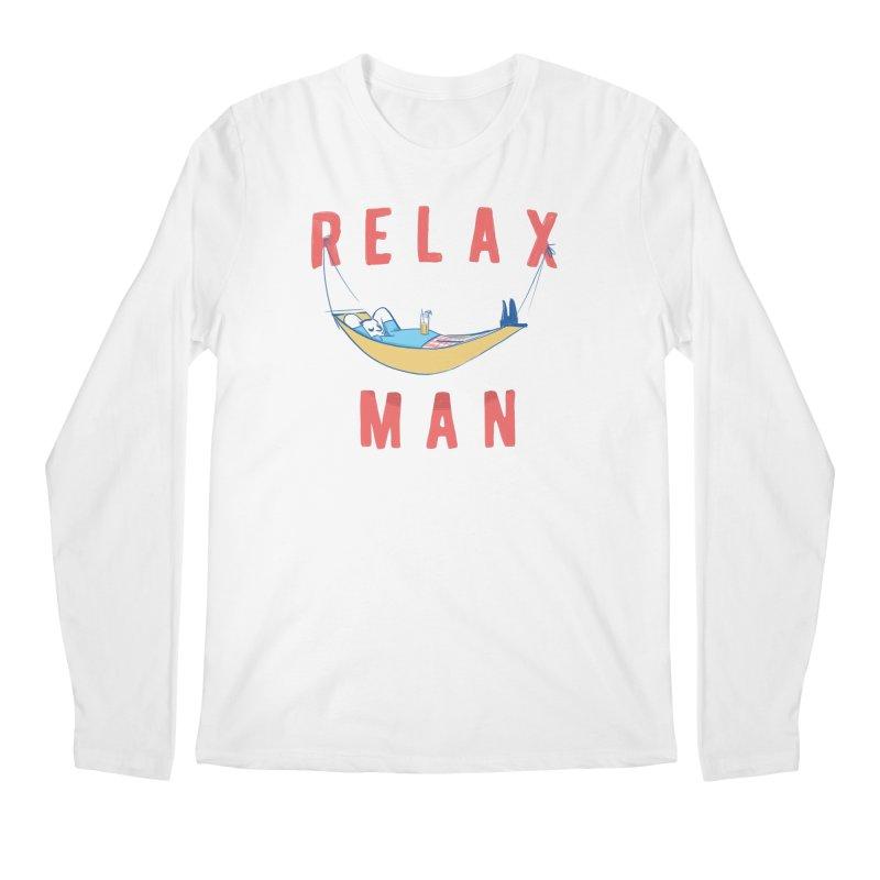Relax Man Men's Regular Longsleeve T-Shirt by adamrajcevich's Artist Shop