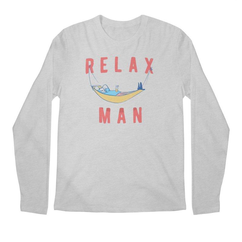 Relax Man Men's Longsleeve T-Shirt by adamrajcevich's Artist Shop