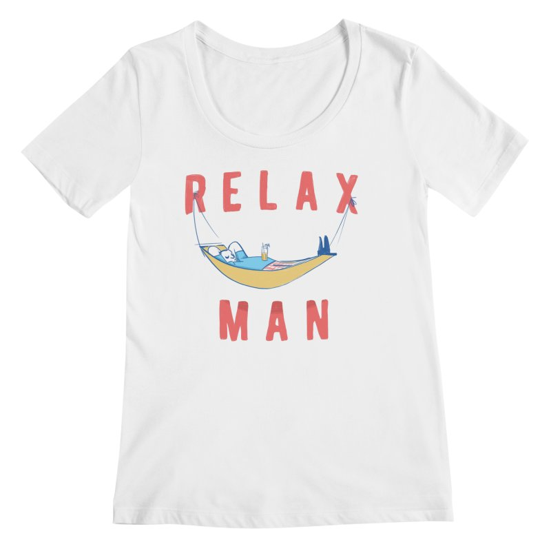 Relax Man Women's Scoopneck by adamrajcevich's Artist Shop