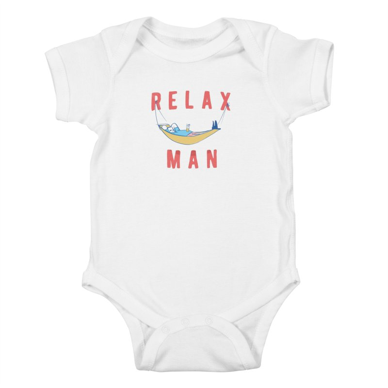 Relax Man Kids Baby Bodysuit by adamrajcevich's Artist Shop