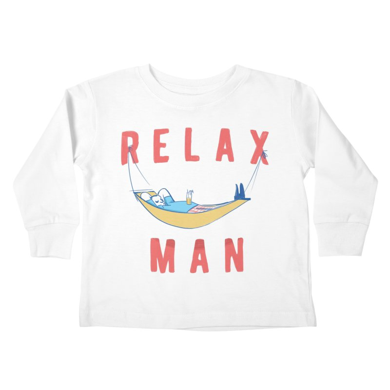Relax Man Kids Toddler Longsleeve T-Shirt by adamrajcevich's Artist Shop