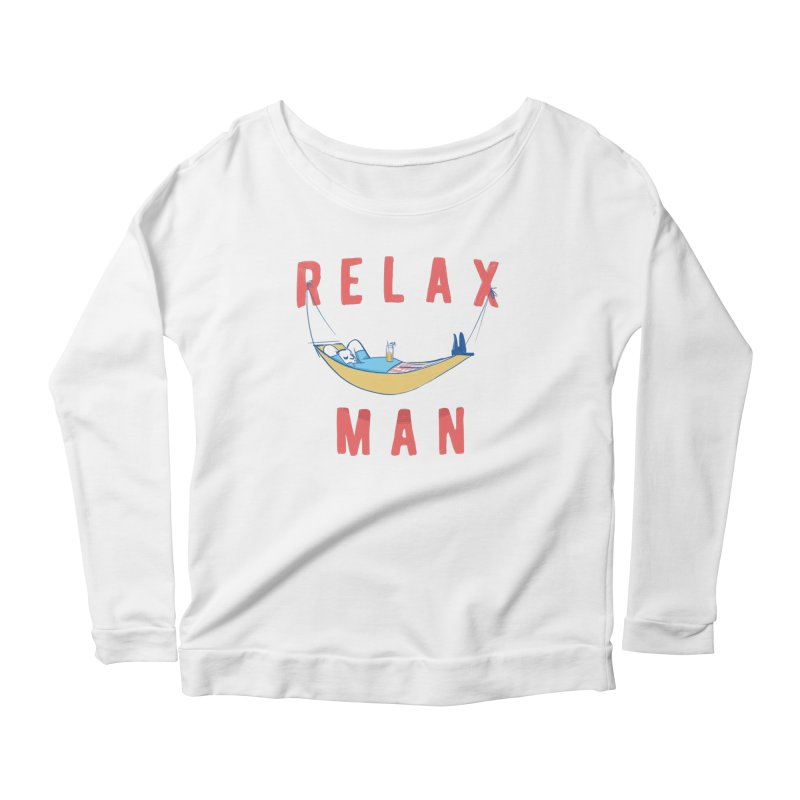 Relax Man Women's Scoop Neck Longsleeve T-Shirt by adamrajcevich's Artist Shop