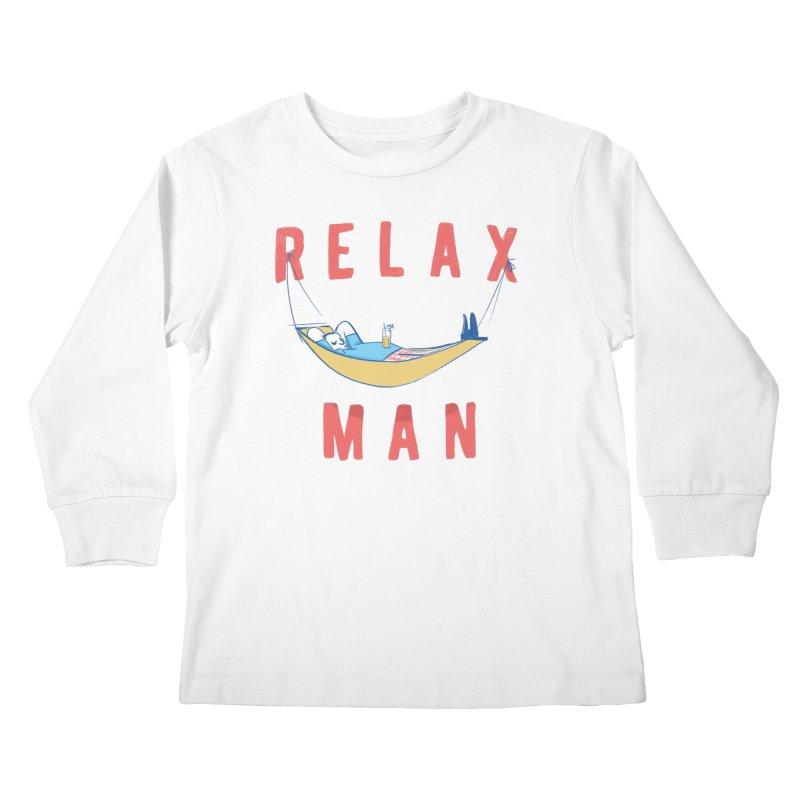 Relax Man Kids Longsleeve T-Shirt by adamrajcevich's Artist Shop