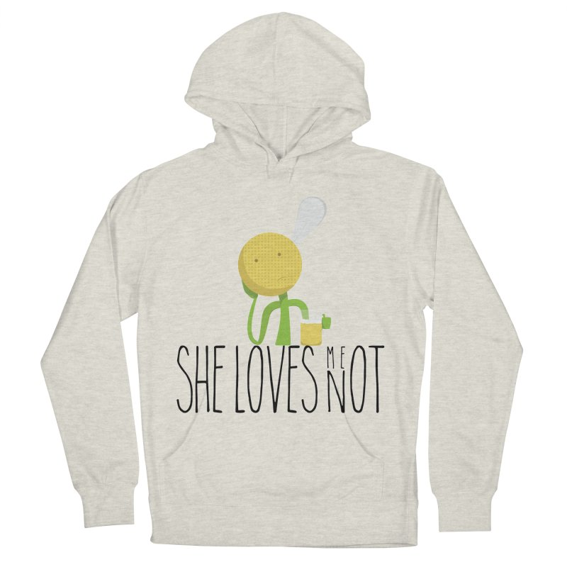 She Loves Me Not Men's French Terry Pullover Hoody by adamrosson's Artist Shop