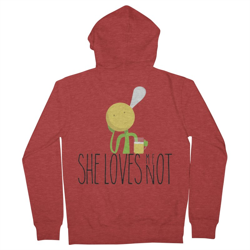 She Loves Me Not Men's Zip-Up Hoody by adamrosson's Artist Shop