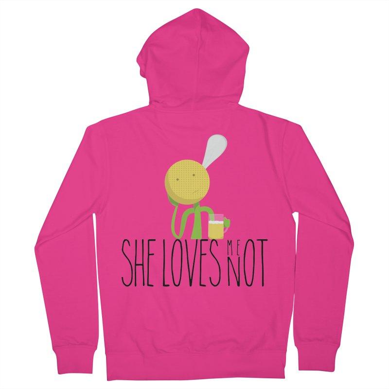 She Loves Me Not Men's Zip-Up Hoody by adamrosson's Artist Shop