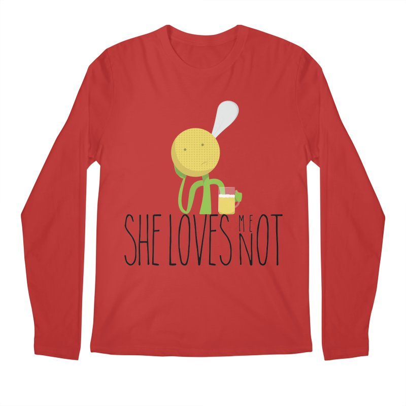 She Loves Me Not Men's Regular Longsleeve T-Shirt by adamrosson's Artist Shop