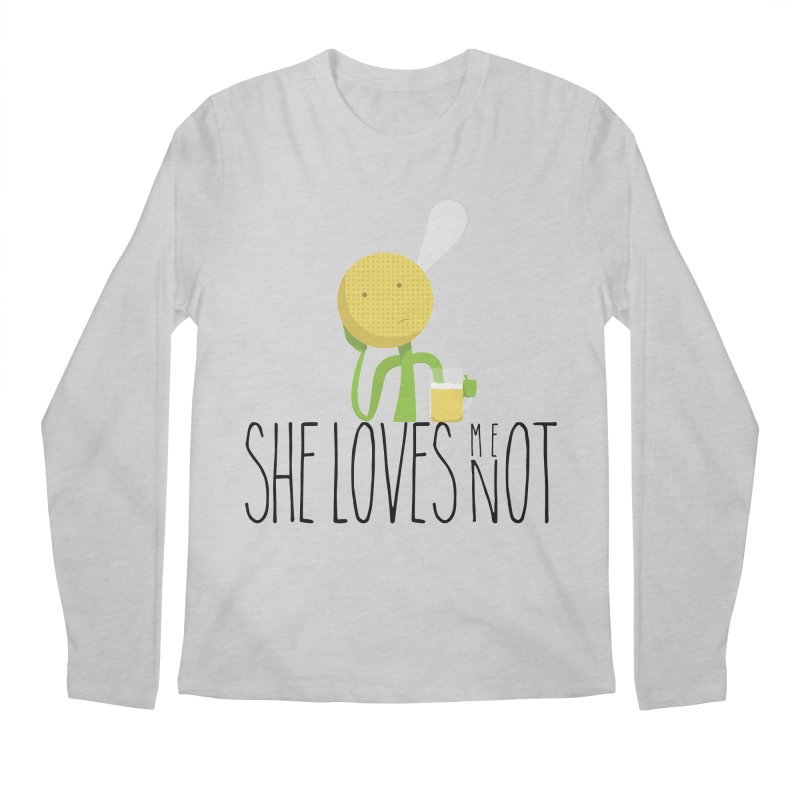 She Loves Me Not Men's Longsleeve T-Shirt by adamrosson's Artist Shop