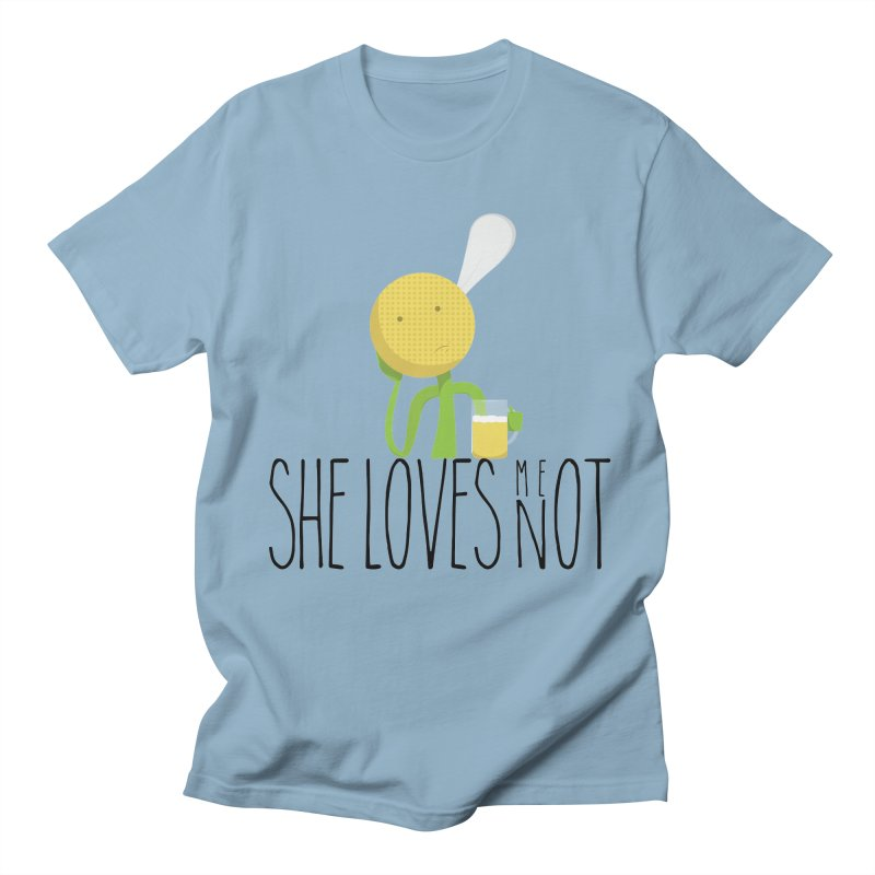 She Loves Me Not Men's Regular T-Shirt by adamrosson's Artist Shop