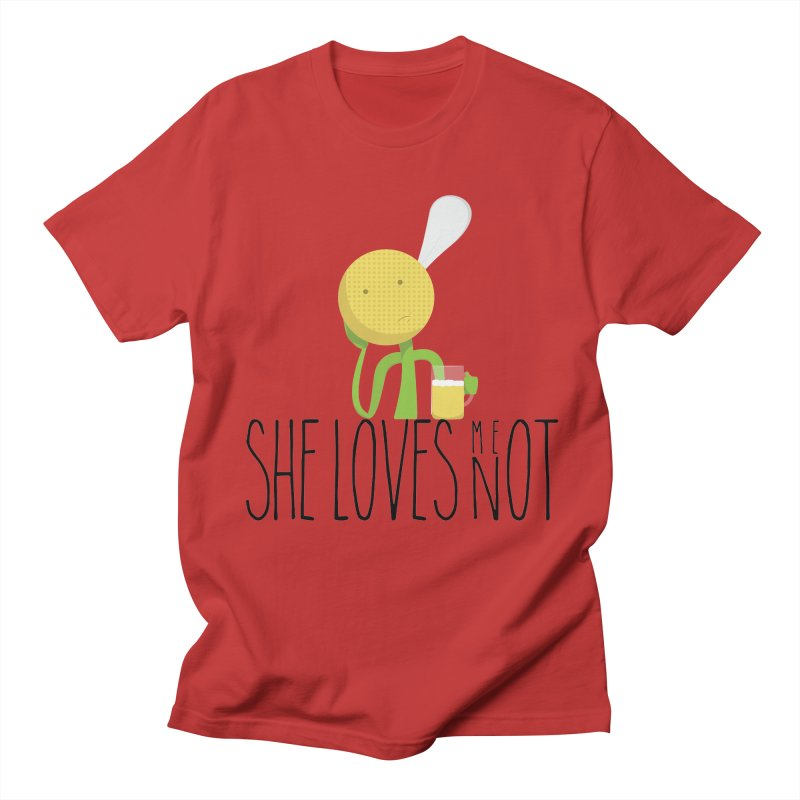 She Loves Me Not Men's Regular T-Shirt by adamrosson's Artist Shop