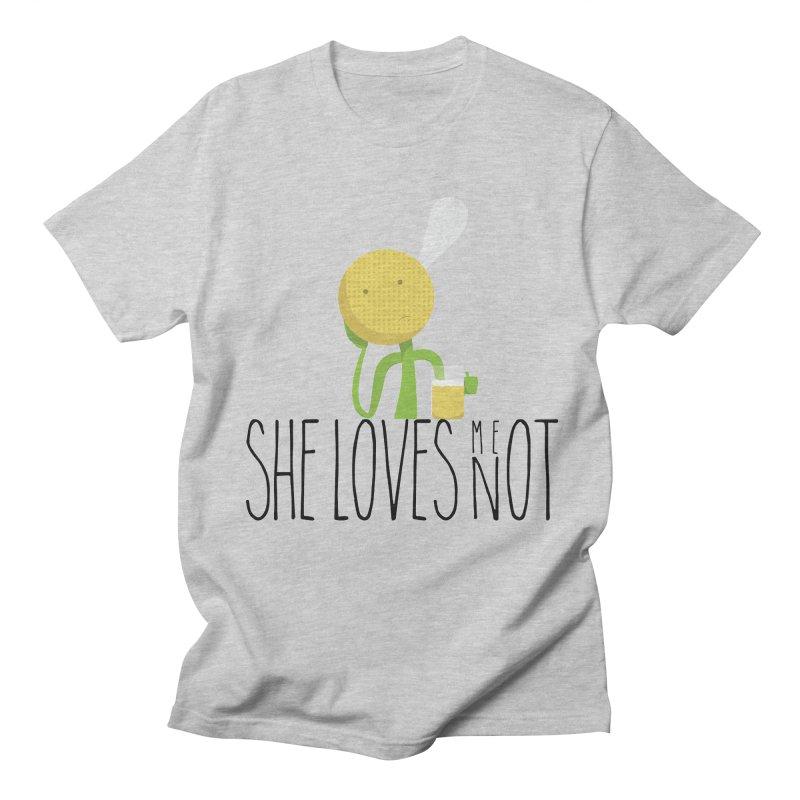 She Loves Me Not Men's T-shirt by adamrosson's Artist Shop