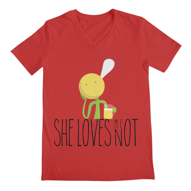 She Loves Me Not Men's V-Neck by adamrosson's Artist Shop