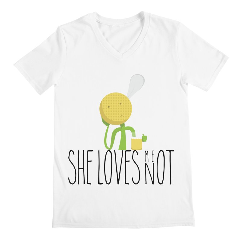 She Loves Me Not Men's V-Neck by adamrosson's Artist Shop
