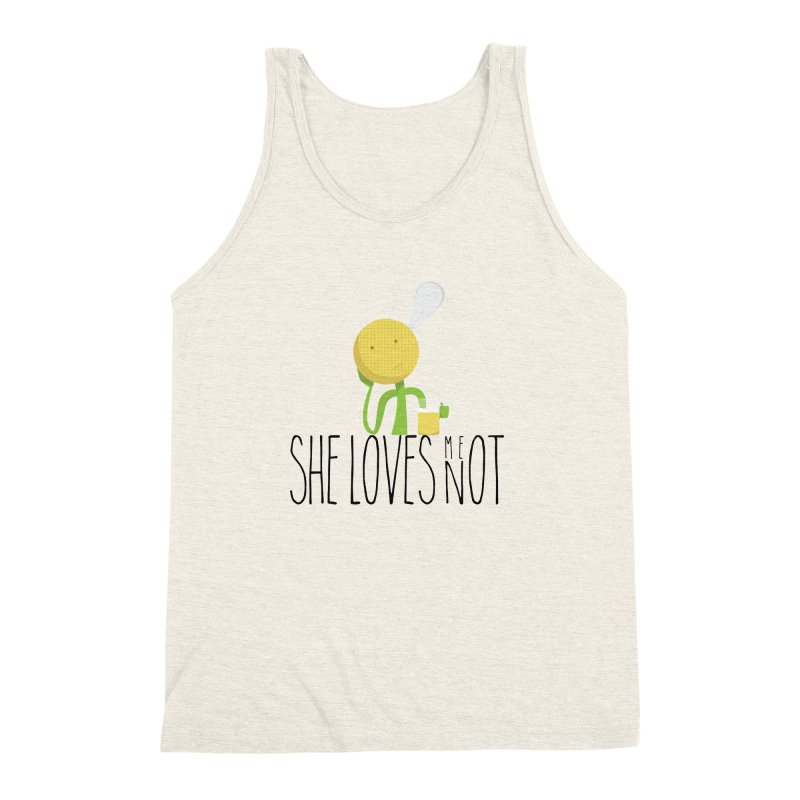 She Loves Me Not Men's Triblend Tank by adamrosson's Artist Shop