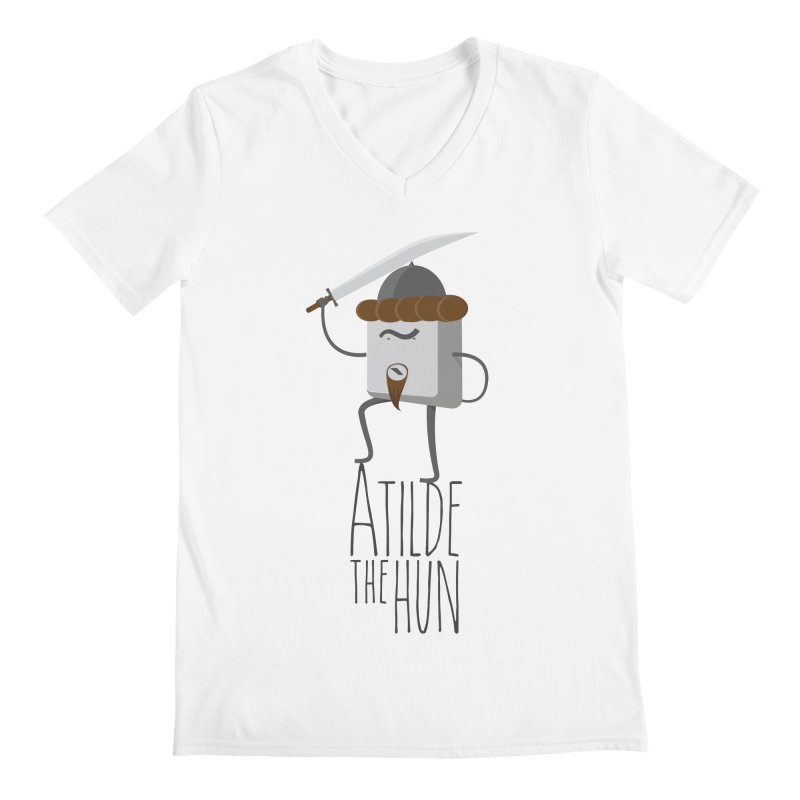 Atilde the Hun Men's V-Neck by adamrosson's Artist Shop