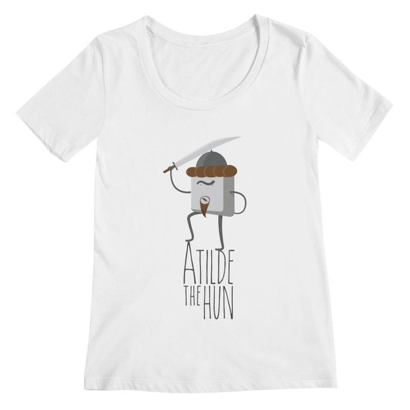 Atilde the Hun Women's Scoopneck by adamrosson's Artist Shop