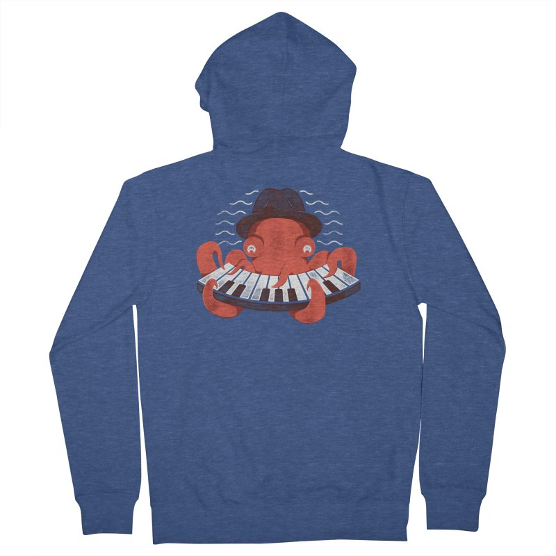 Deep Sea Blues Men's French Terry Zip-Up Hoody by Adam White's Shop