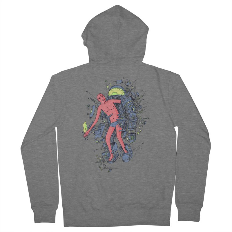 Disconnect Men's Zip-Up Hoody by Adam White's Shop
