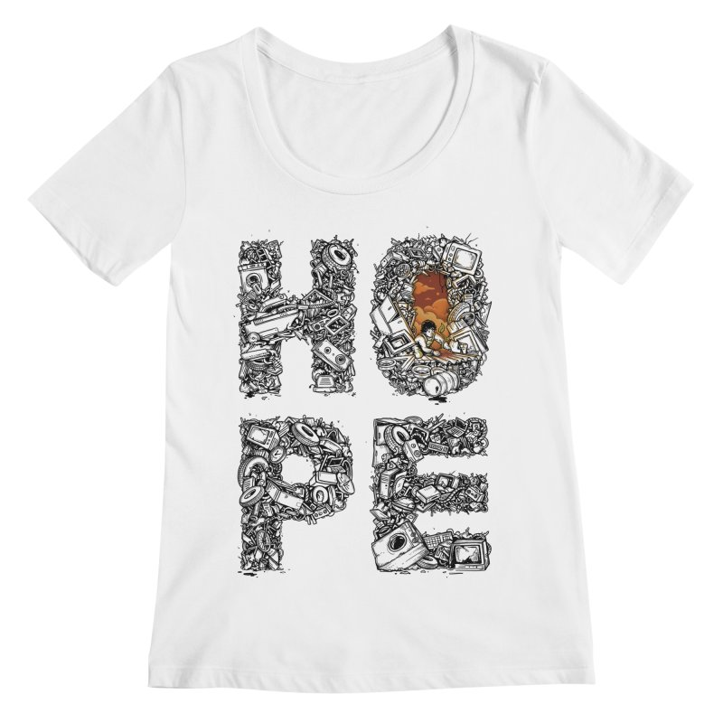 Hope Women's Regular Scoop Neck by Adam White's Shop