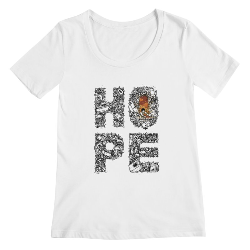 Hope Women's Scoopneck by Adam White's Shop