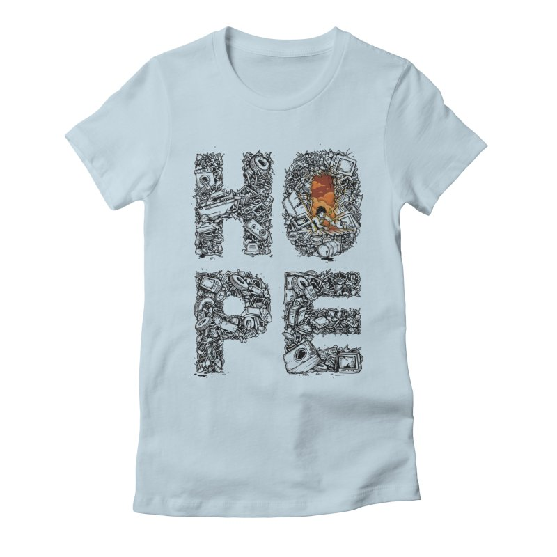 Hope Women's Fitted T-Shirt by Adam White's Shop