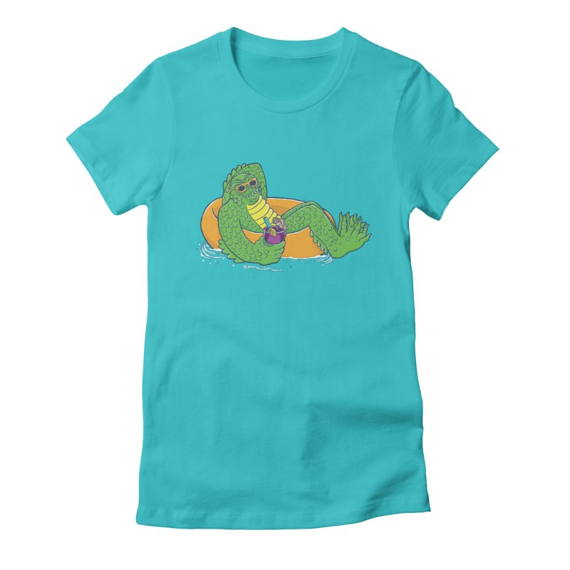Laid Back Lagoon Women's Fitted T-Shirt by Adam White's Shop