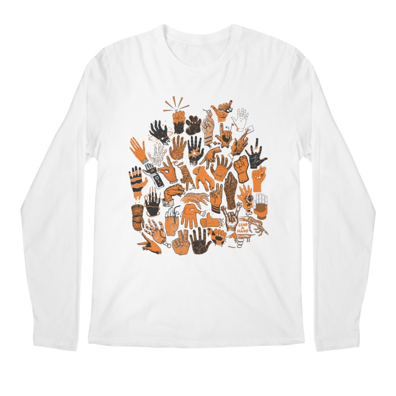 Lend a Hand Men's Longsleeve T-Shirt by Adam White's Shop