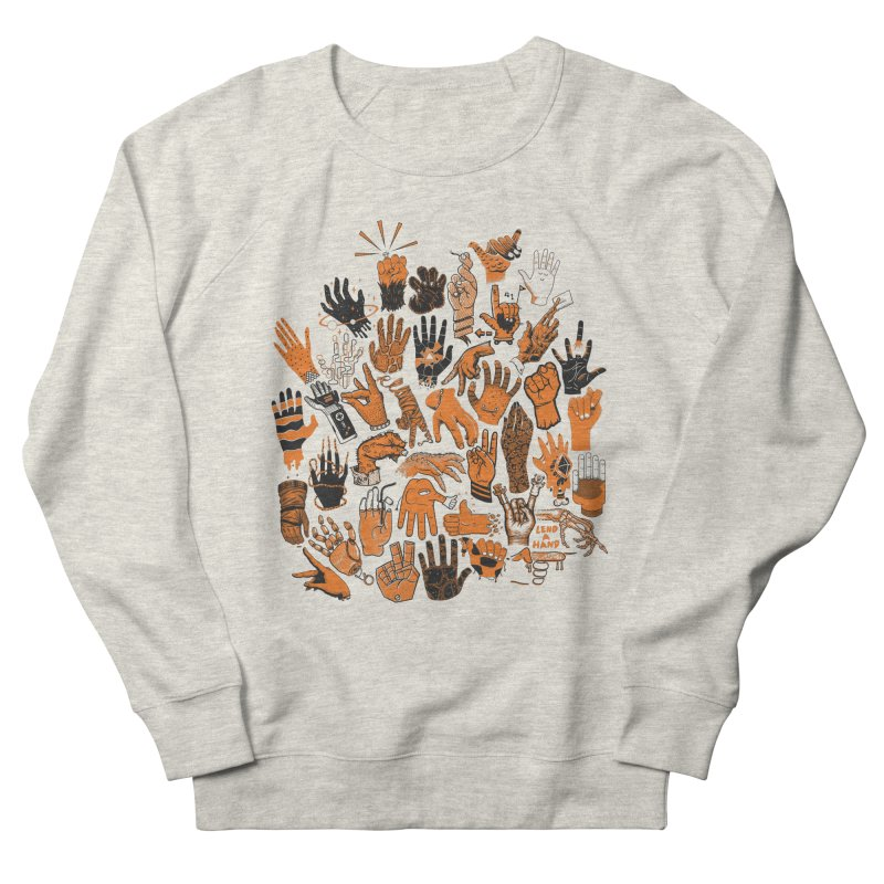 Lend a Hand Men's French Terry Sweatshirt by Adam White's Shop