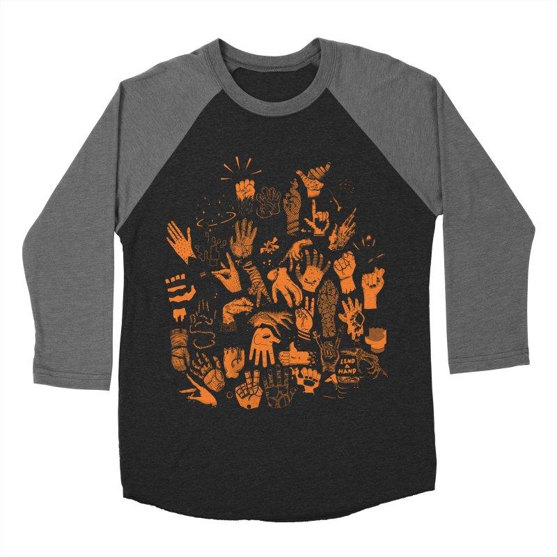 Lend a Hand Men's Baseball Triblend Longsleeve T-Shirt by Adam White's Shop