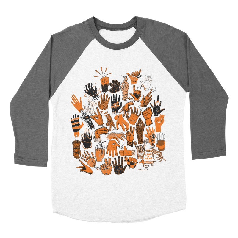 Lend a Hand Men's Baseball Triblend T-Shirt by Adam White's Shop