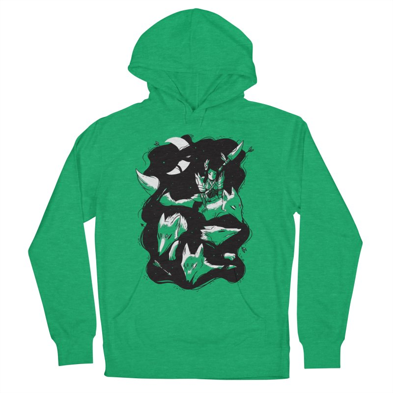 Moonlit Hunt Men's French Terry Pullover Hoody by Adam White's Shop