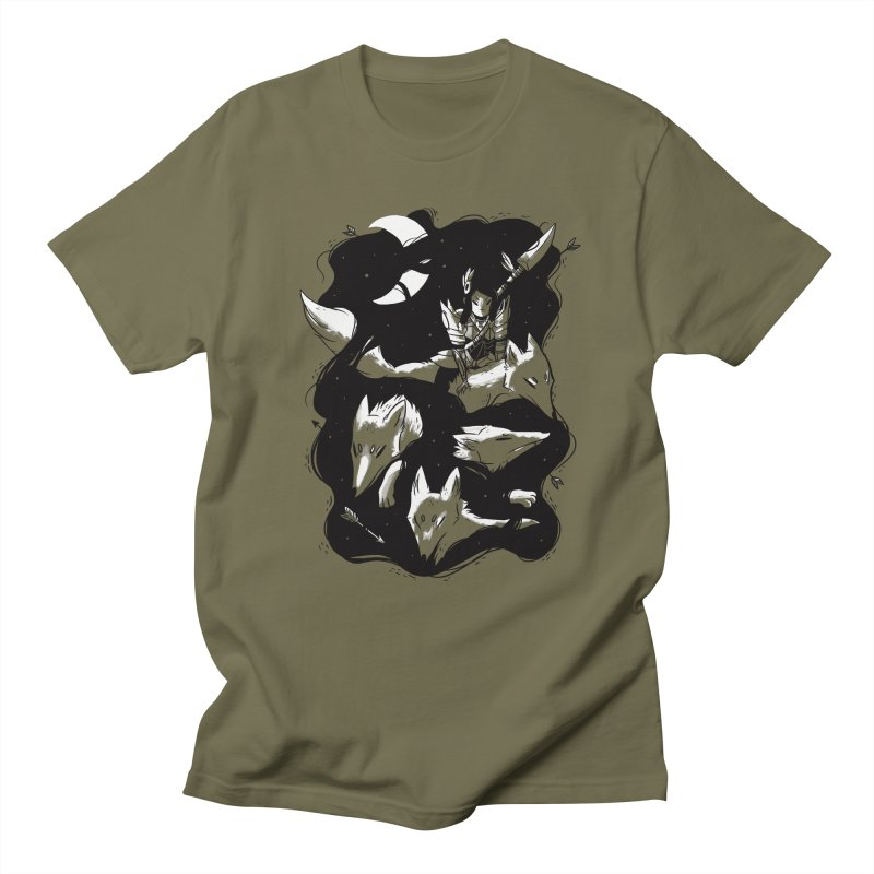 Moonlit Hunt Men's T-Shirt by Adam White's Shop