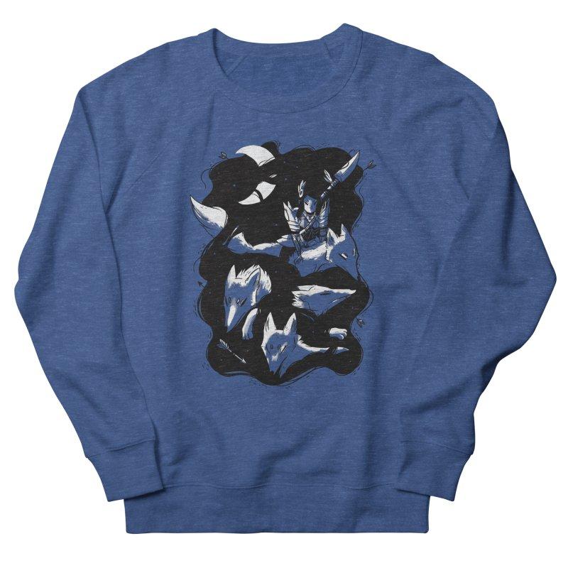 Moonlit Hunt Men's French Terry Sweatshirt by Adam White's Shop
