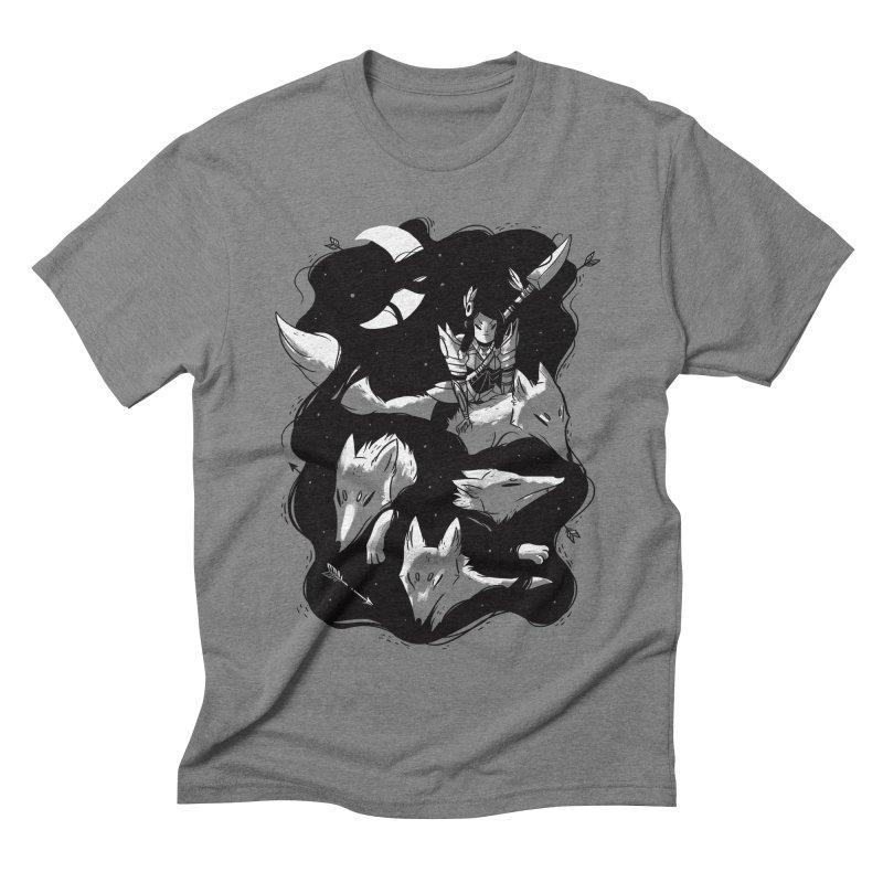 Moonlit Hunt Men's Triblend T-shirt by Adam White's Shop