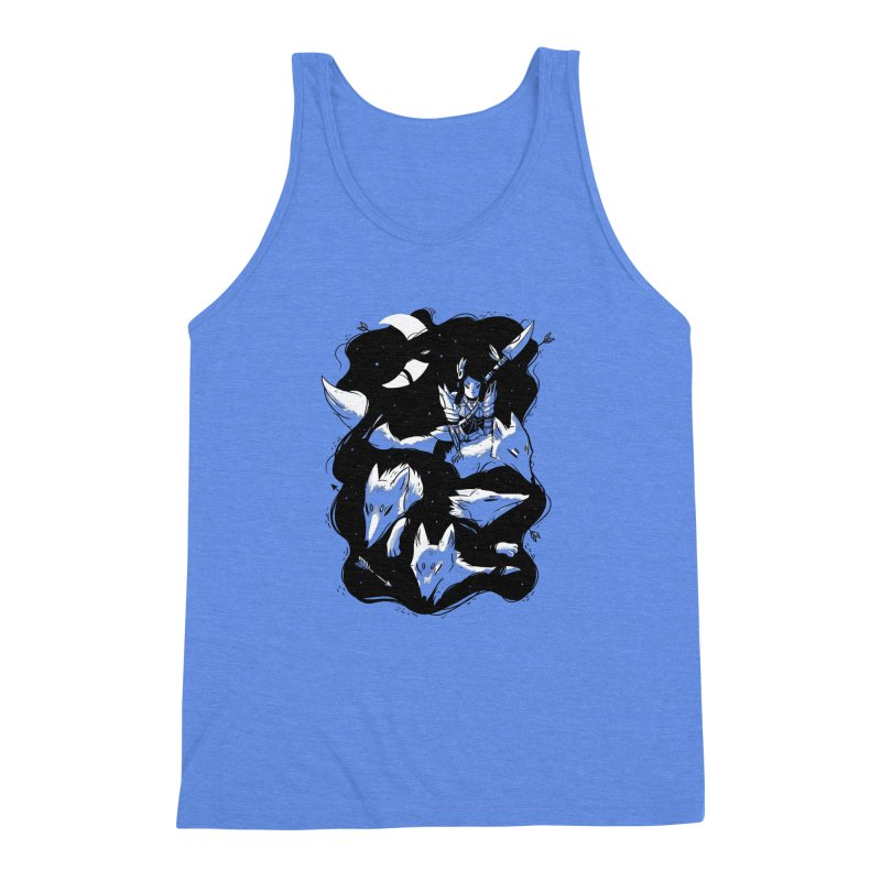 Moonlit Hunt Men's Triblend Tank by Adam White's Shop
