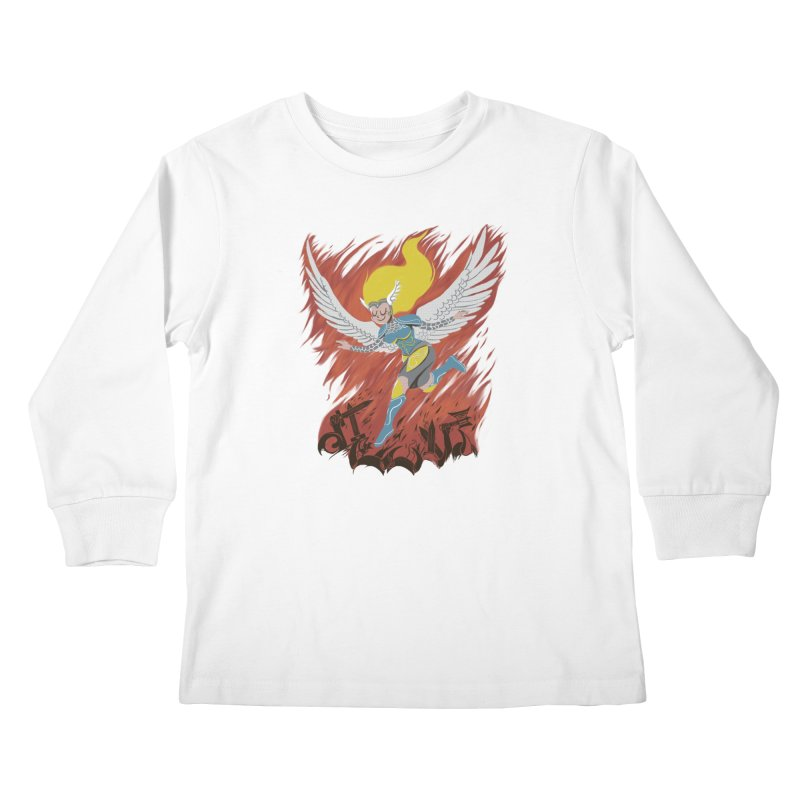Peace During War Kids Longsleeve T-Shirt by Adam White's Shop