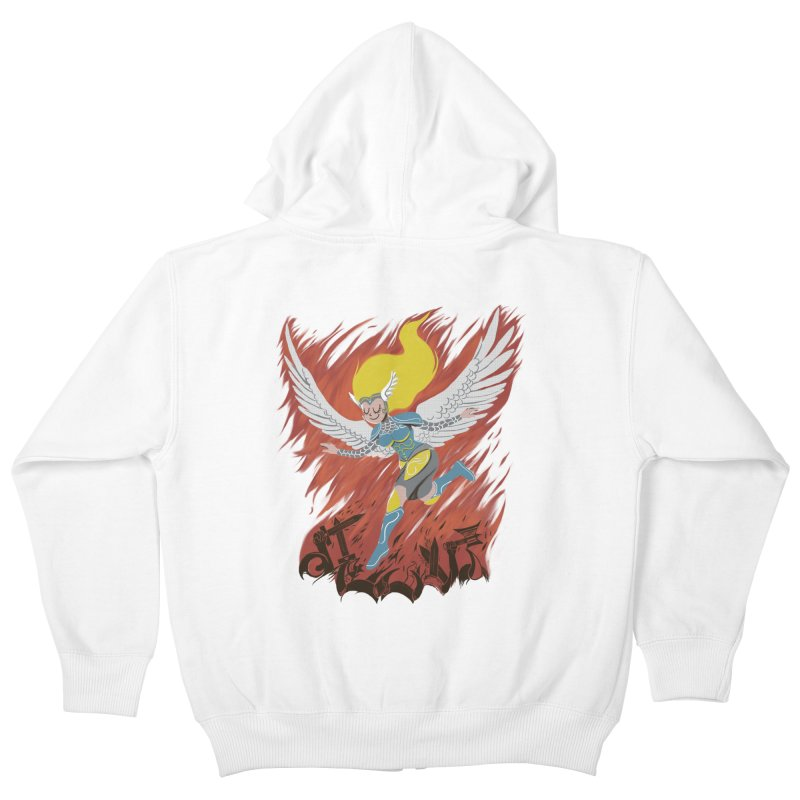 Peace During War Kids Zip-Up Hoody by Adam White's Shop