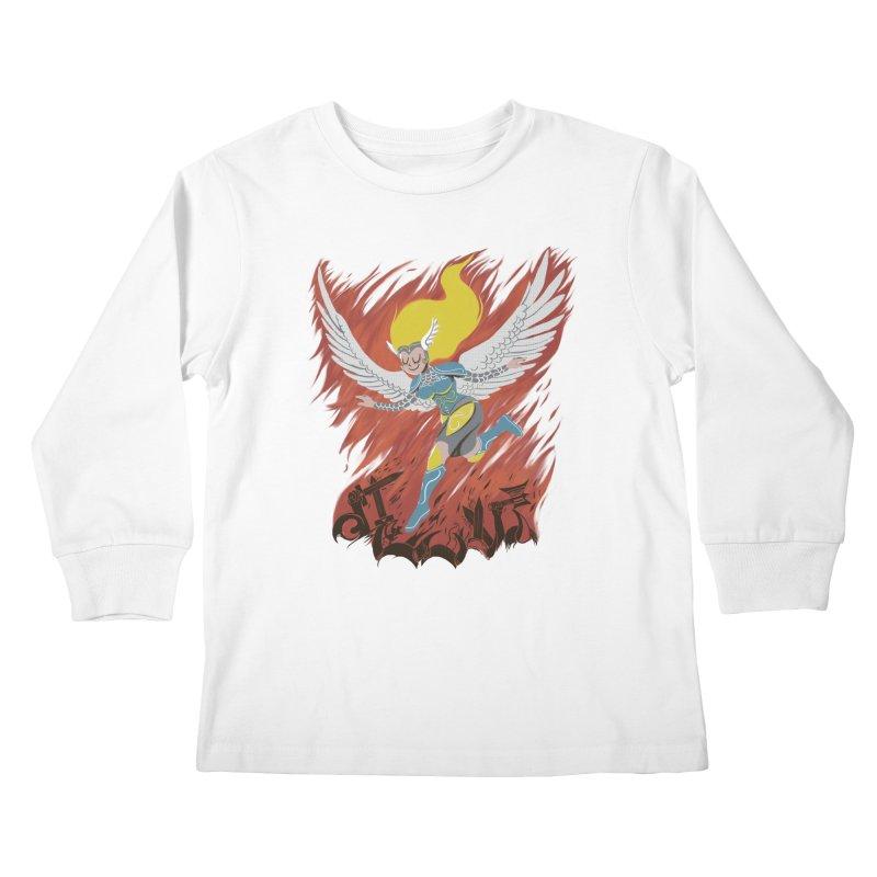 Peace During War Kids Longsleeve T-Shirt by Adam White's Shop