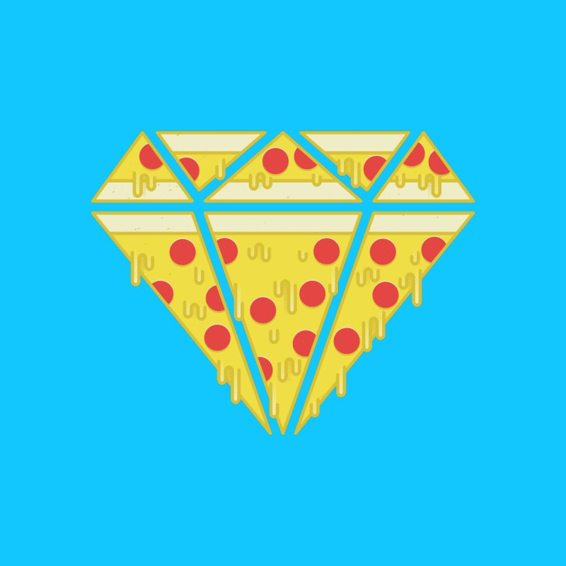 Pizzas are Forever Men's T-Shirt by Adam White's Shop